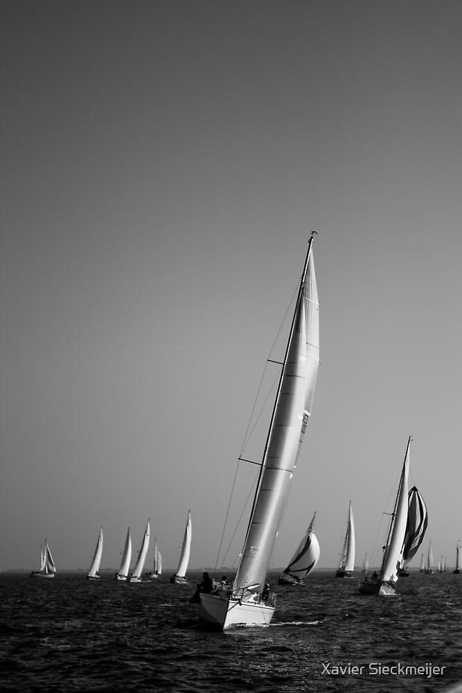 Racing Sailing by Xavier Sieckmeijer