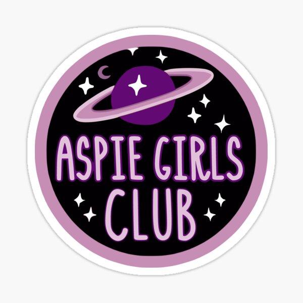 Aspie Girls Club cosmic logo Sticker