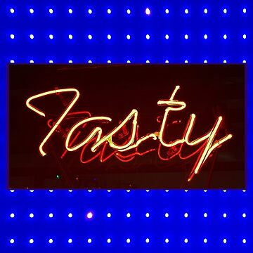Tasty Neon on Blue by ATJones