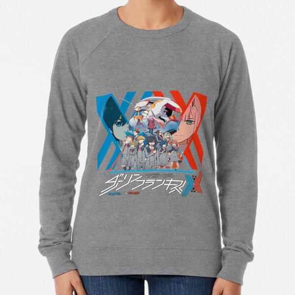 Darling dans le logo Anime de Franxx Sweatshirt léger