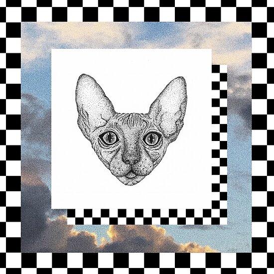 Tumblr Katze digitale Kunst von jakeparkerart