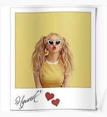 Póster HyunA firma polaroid