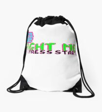 FIGHT ME (PINK) Drawstring Bag