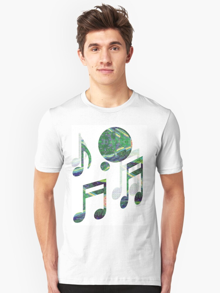 Music Notes Unisex T-Shirt Front