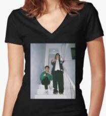 Joji and Rich Brian Women's Fitted V-Neck T-Shirt