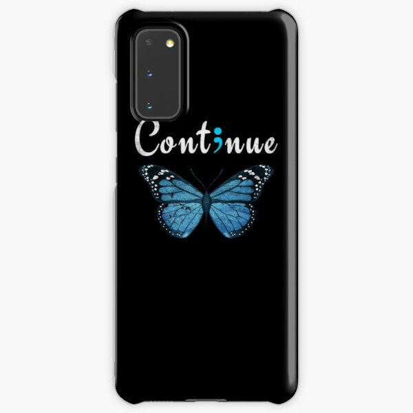 Semicolon Butterfly Continue Tattoo Design Samsung Galaxy Snap Case