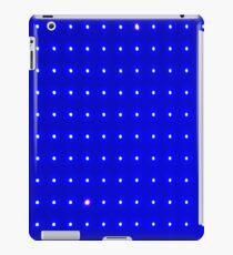 Blauer Punkt Raster iPad-Hülle & Skin