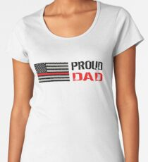 Firefighter: Proud Dad Women's Premium T-Shirt