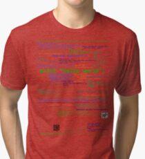 Camiseta de tejido mixto Hola mundo - Muchos lenguajes de programación (luz)