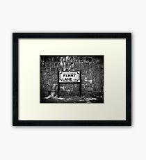 Penny Lane Street Sign Framed Print