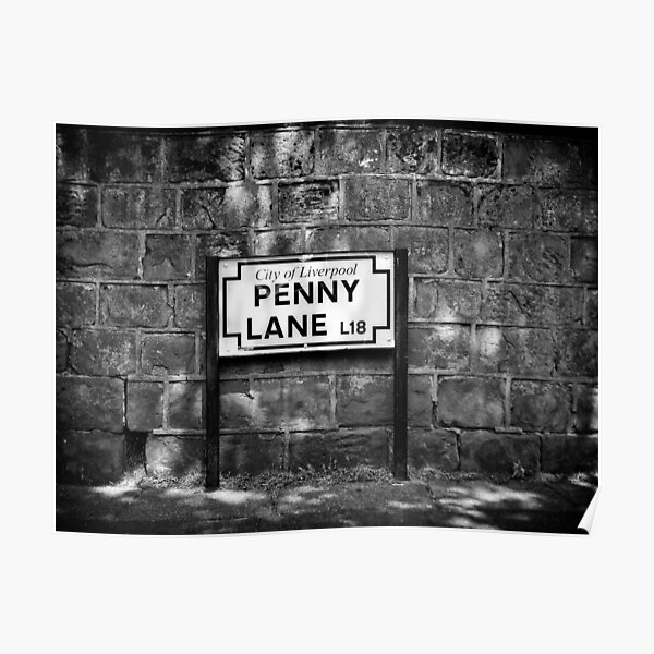 Penny Lane Street Sign Poster