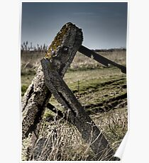 Dejected gatepost Poster