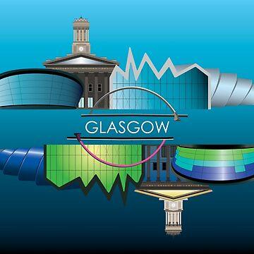 Glasgow Skyline Day and Night by sarahmca