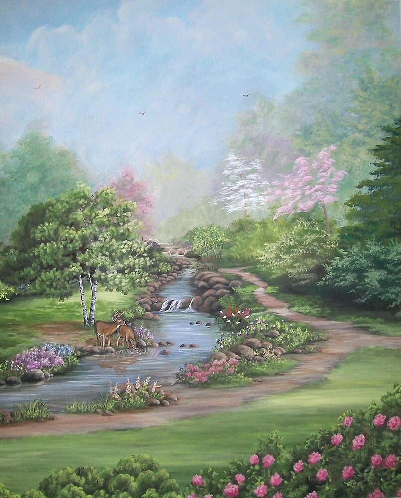 Refreshing Stream by Sandra Poirier