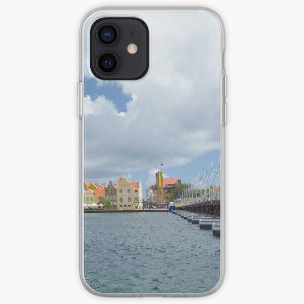 Handelskade and Queen Emma Bridge, Willemstad, Curacao iPhone Soft Case