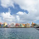 Handelskade and Queen Emma Bridge, Willemstad, Curacao by Kasia-D