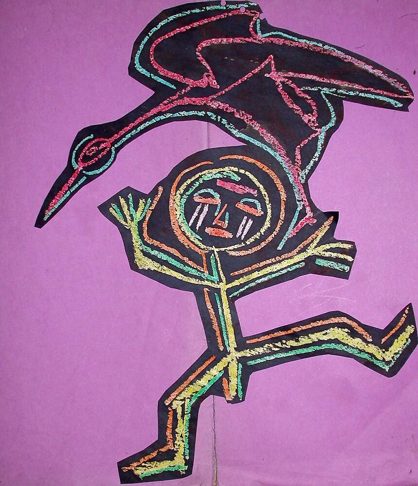 l'histoire de MAE TIZZ et de l'oiseau STORCH by bernard lacoque
