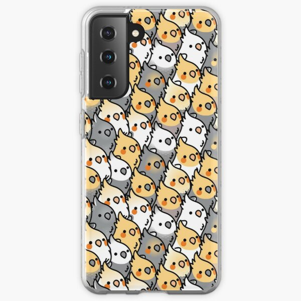 Chubby Cockatiel Party Samsung Galaxy Soft Case