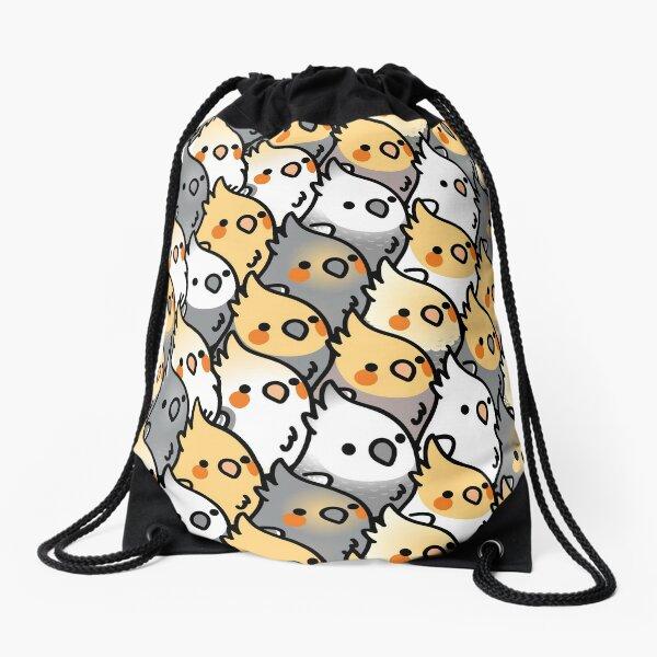 Chubby Cockatiel Party Drawstring Bag