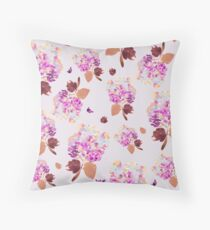 Vintage inspired watercolor floral pattern Throw Pillow