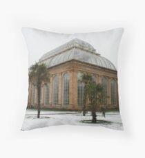 Temperate Palm House in Edinburgh's Botanic Gardens Throw Pillow