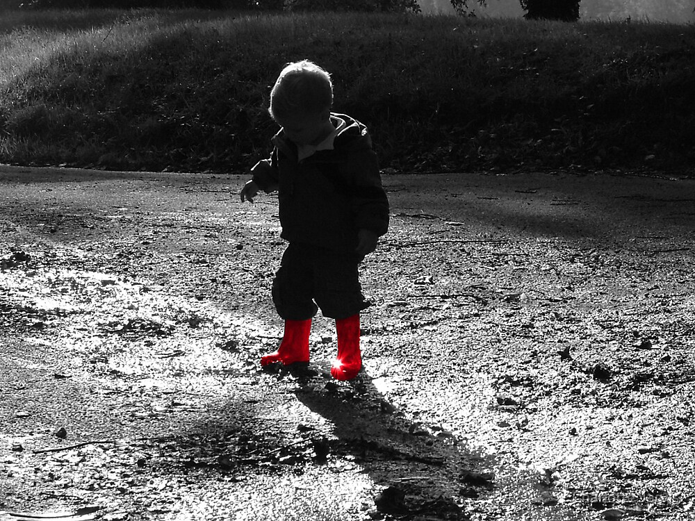Red boots by Charlotte Jarvis