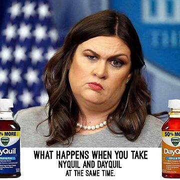 Sarah Huckabee Sanders aka What happens when you take Nyquil and Dayquil at the Same Time by michaelroman