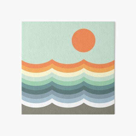 Retro waves Art Board Print