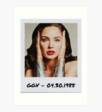 Gal Gadot Polaroid Edit (2) Art Print