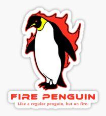 Fire Penguin T-Shirt Weird Cute Penguin Sticker
