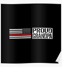 Firefighter: Proud Grandpa Poster