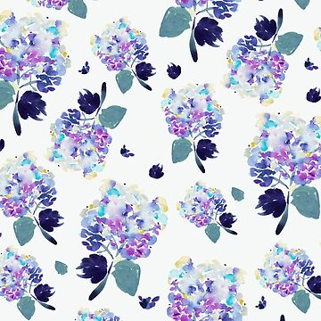 Romantic watercolor floral pattern by luisanino