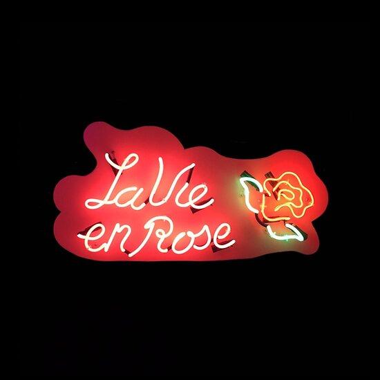 La Vie En Rose Tumblr Neon Sign Posters By Jakeparkerart Redbubble