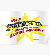 Super Social Worker Poster