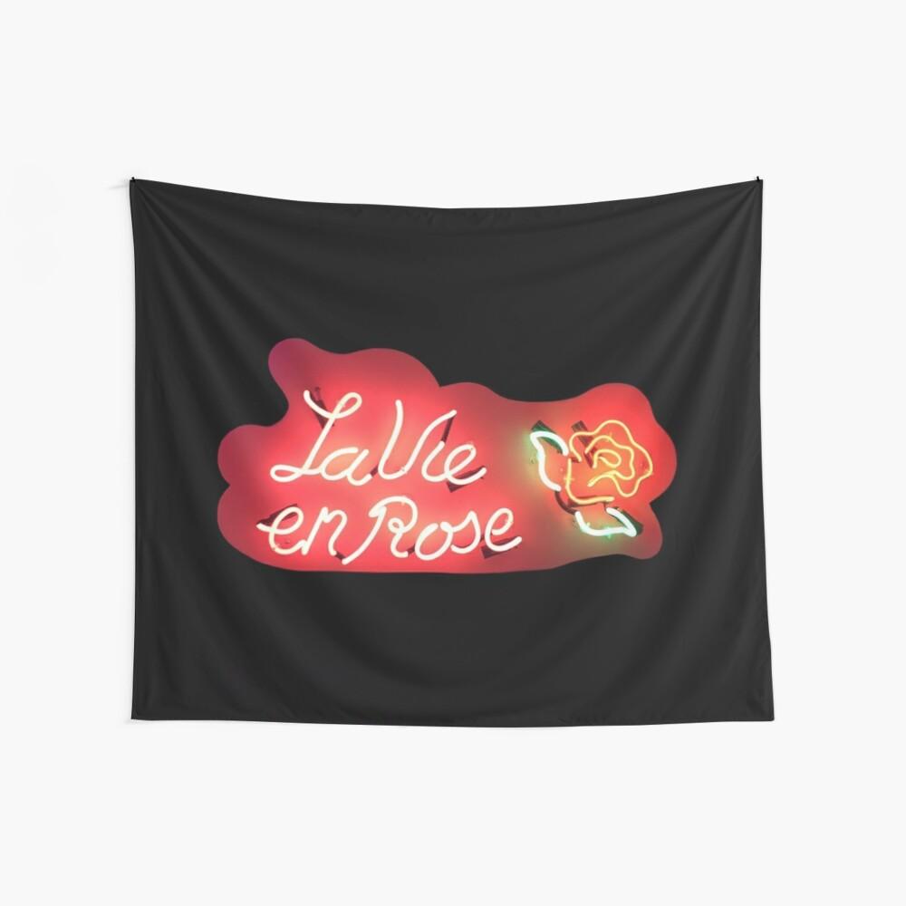 La vie en rose tumblr neon sign | Wall Tapestry