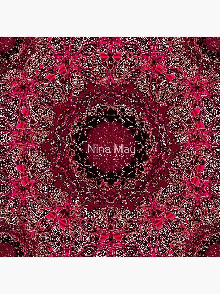 Cinnamon Wisteria Mandala by ninabmay
