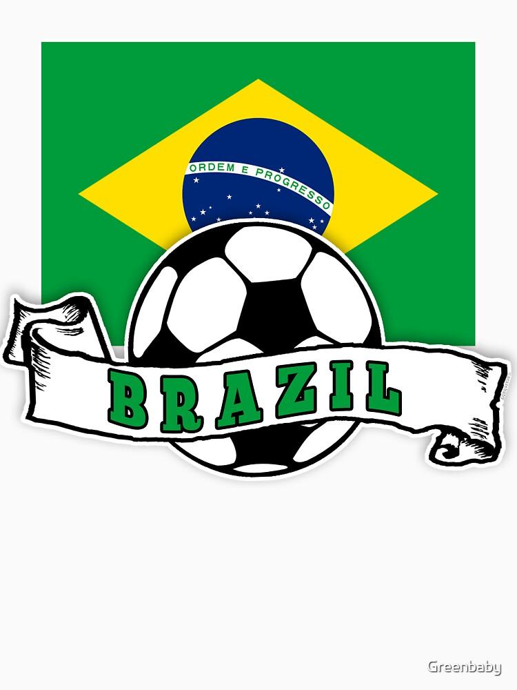 Brazilian SOCCER Brazil FLAG by Greenbaby