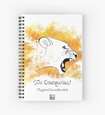 Be Courageous 3 - The Lioness Spiral Notebook