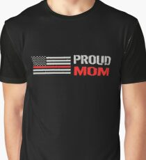 Firefighter: Proud Mom Graphic T-Shirt
