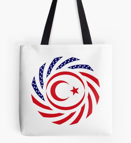 Northern Cyprus American Multinational Patriot Flag Series Tote Bag