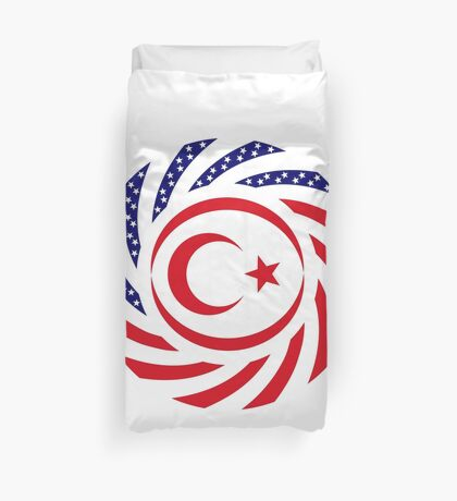 Northern Cyprus American Multinational Patriot Flag Series Duvet Cover