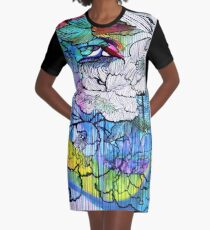 Tattoo Graphic T-Shirt Dress