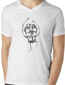 Dancing Office Man Mens V-Neck T-Shirt