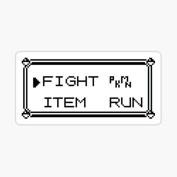 Fight Pokemon Item Run Sticker