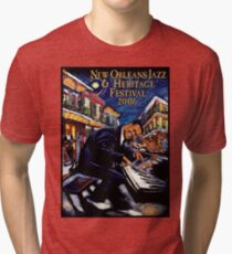 Camiseta de tejido mixto NUEVA ORLEANS: Publicidad de Jazz and Heritage Festival