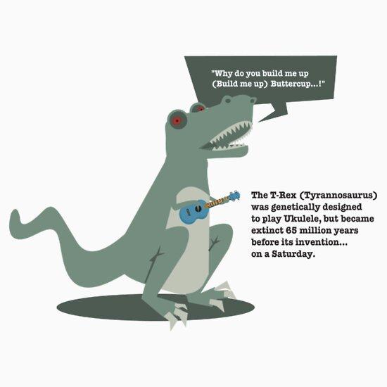 TShirtGifter presents: Ukulele T-Rex