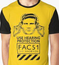 Hacienda FAC51 Use Hearing Protection Graphic T-Shirt