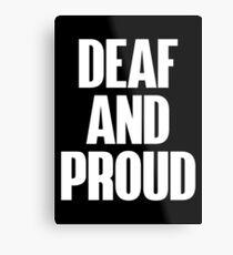 Deaf Proud White Version Metal Print
