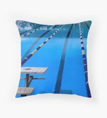 Schwimmbad - blau und cool Kissen