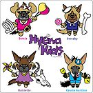 Hyena Kids square sticker by PegMcClureLLC